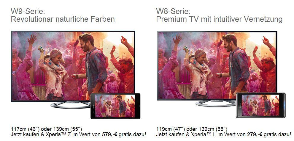 Sony: Gratis Xperia Z beim Kauf eines BRAVIA TV