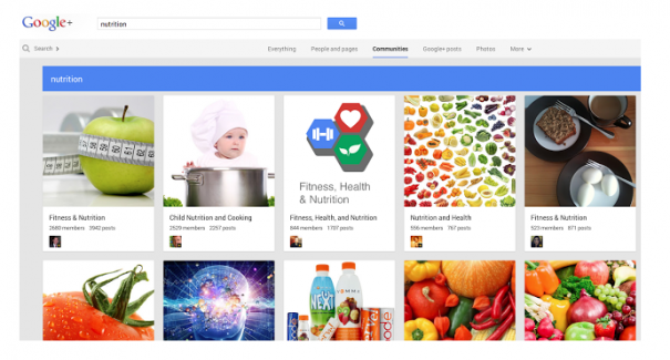 Google Plus Communities zur Ernährung