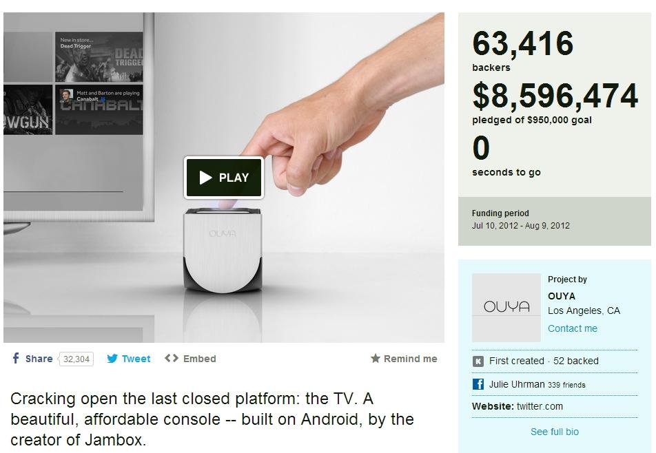 Ouya Kickstarter Ouya im Test   Die Konsole mit Herz!