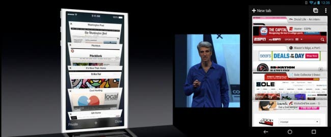 a vs i2 650x269 WWDC 2013   iOS 7 = Return of the Copycats?