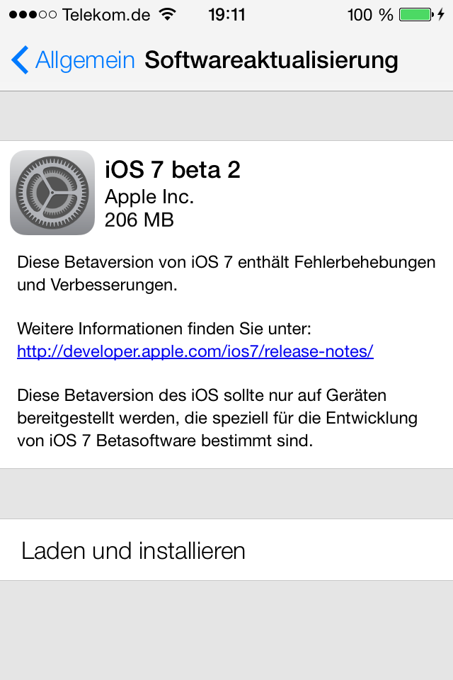 iOS 7 Beta 2 *Update*