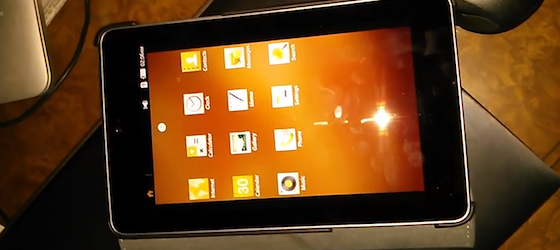 Nexus 7 Tablet mit Tizen OS im Video