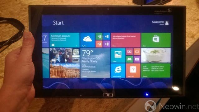 Qualcomm Snapdragon 800 Tablet mit Windows RT 8.1