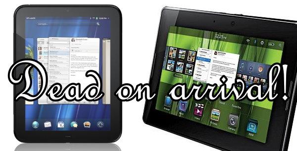 HP TouchPad und BlackBerry PlayBook – Die Totgeburten!