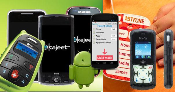 Die fünf besten Mobiltelefone für Kinder