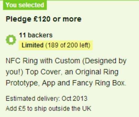 NFC Ring 2 Crowdfunding Gadget der Woche   Der NFC Ring rockt Kickstarter!