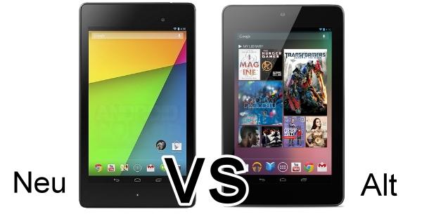 """Nexus 7 """"alt vs neu"""" im Vergleich – Lohnt sich das Upgrade? Update: Video"""