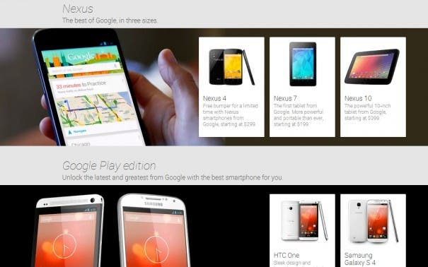 Nexus Google Edition 605x378 Google Play Store in neuem Design