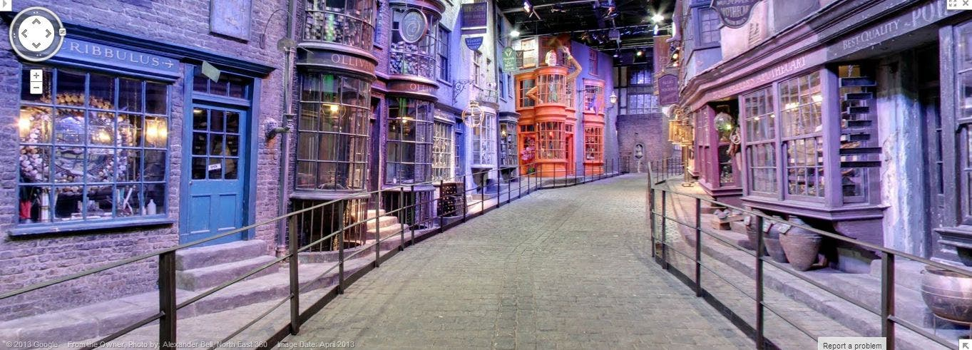 Harry Potter: Mit Google Street View die Winkelgasse besuchen