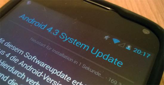 """Google liefert Android 4.3 """"Jelly Bean"""" aus – auch in Deutschland"""