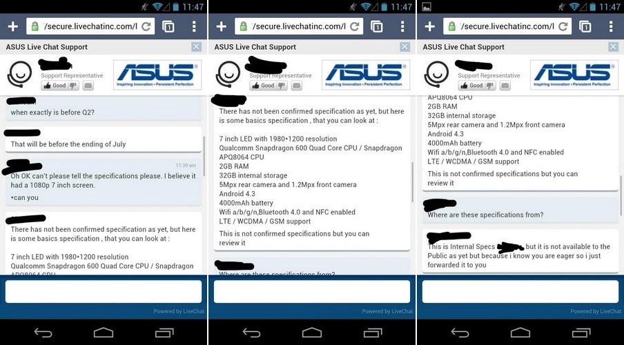 asus k900 specs Nexus 7 2: ASUS Mitarbeiter bestätigt Spezifikationen und Verkaufsstart im Juli