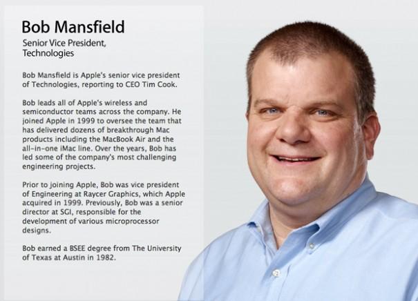 bob apple bio 605x436 Fruehstueck News: Chromecast gerooted, Apple VP verabschiedet, Dell bleibt bei Dell, Pegatron Arbeitsbedigungen, Groesste Weltraumschlacht