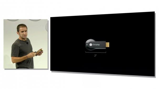 chromecast 605x340 Google Chromecast   Airplay Konkurrent zum Schnaeppchenpreis