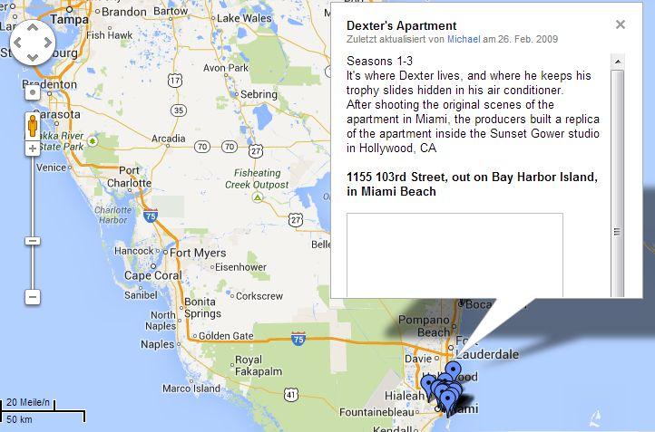dexter google maps Fünf großartige TV Serien bei Google Maps