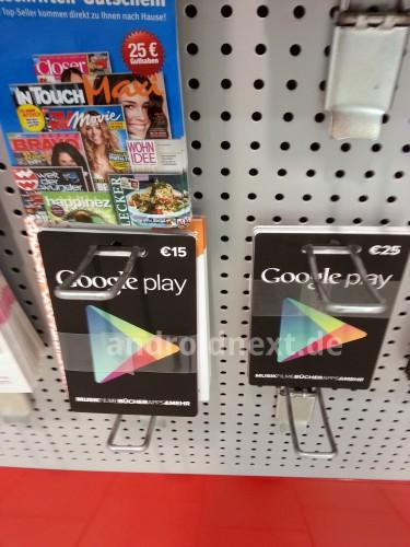 google play geschenkkarte gutscheinkarte deutschland2 Google Play Gutschein Karten noch diesen Monat in Deutschland *Update: bei 1. REWE schon da*