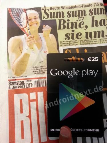 google play geschenkkarte gutscheinkarte deutschland3 Google Play Gutschein Karten noch diesen Monat in Deutschland *Update: bei 1. REWE schon da*