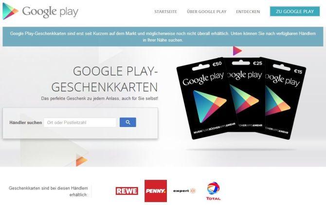 Google Play: Store-Finder zeigt euch, wo ihr die Geschenkkarten bekommt
