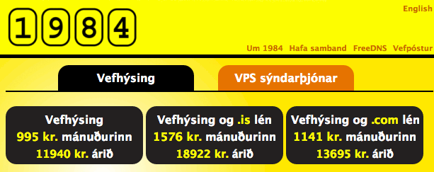 1984   Stóri bróðir hefur gætur á þér