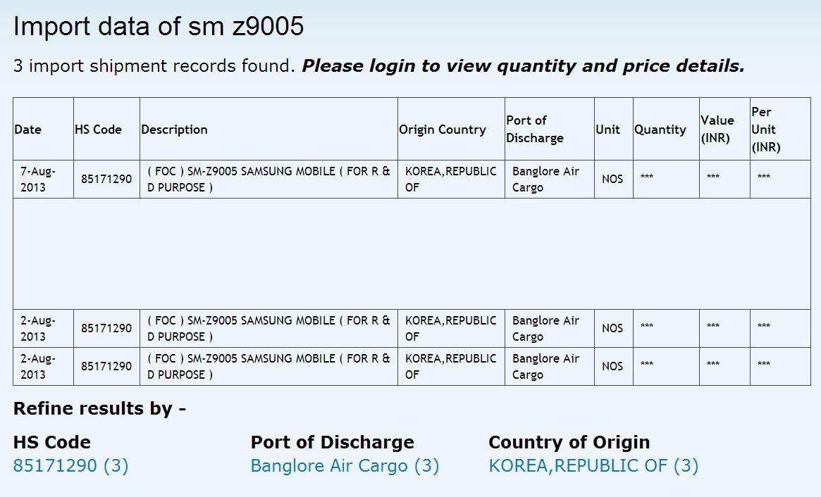 Samsung SM Z9005 Zauba News: Lavabit Interview, Xperia i1 Honami kann 4K Videos, Vivo X3, Samsung SM Z9005