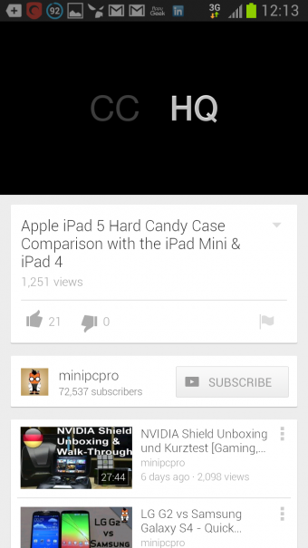 Screenshot 2013 08 20 12 13 22 340x605 Neue Youtube App fuer Android   Update der UI und Multitasking   Download hier!