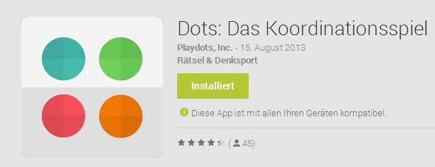 dots News: Dots für Android, Grand Theft Auto Online, Brasilien verklagt Samsung, Galaxy S2 TV