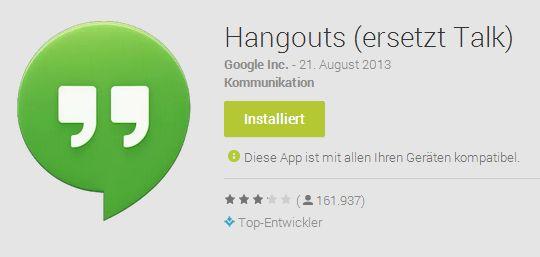 hangouts News: Yahoo wieder Nr.1, Google Hangouts, Oppo N1, Nexus 7 Display