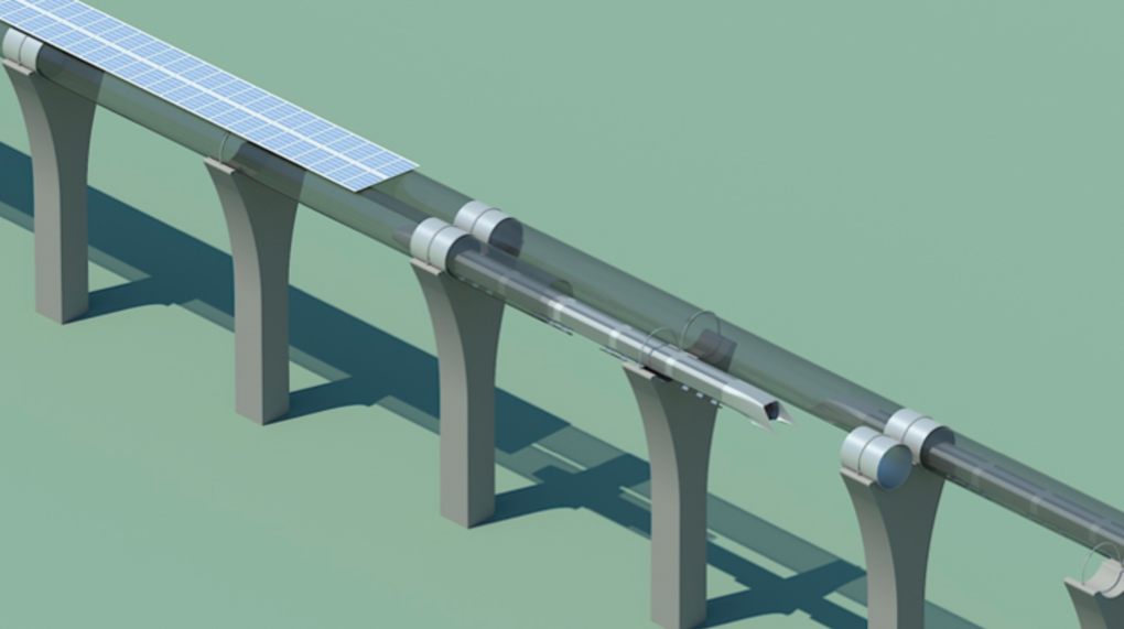 Hyperloop Render schräg oben