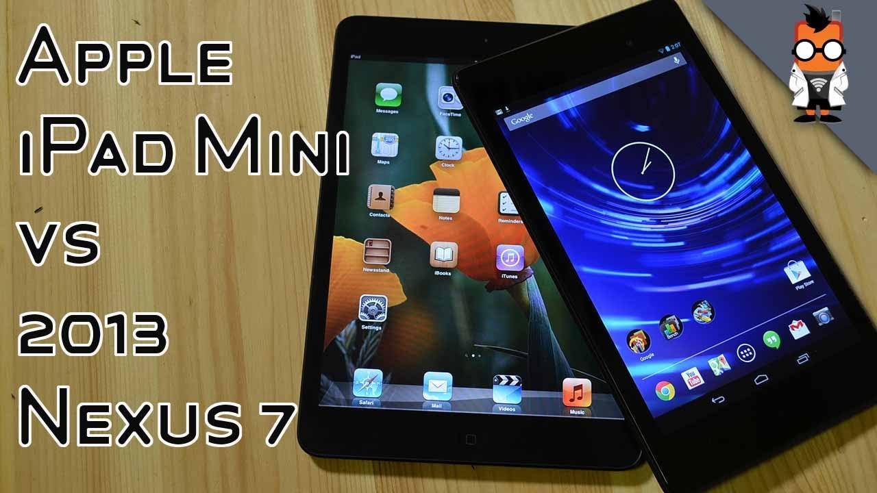 Das neue Nexus 7 im Vergleich mit dem Apple iPad mini