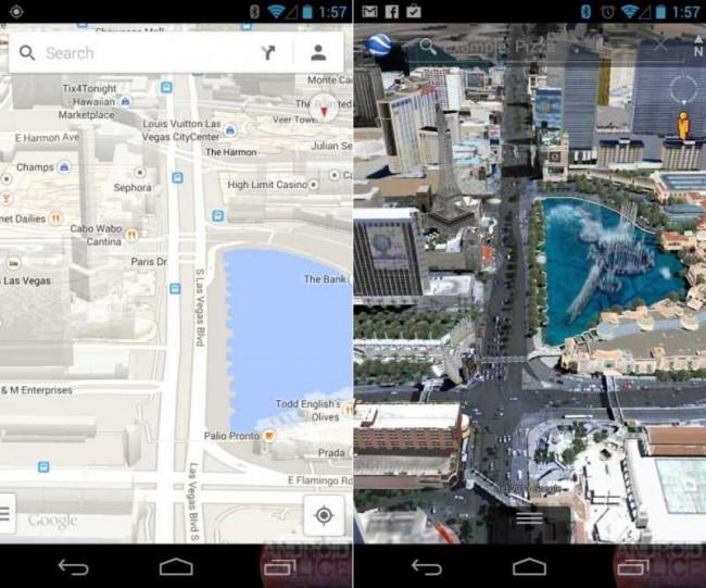 maps vs earth Google Maps Update für Android: Offline Karten für Apps und verbesserte 3D Karten