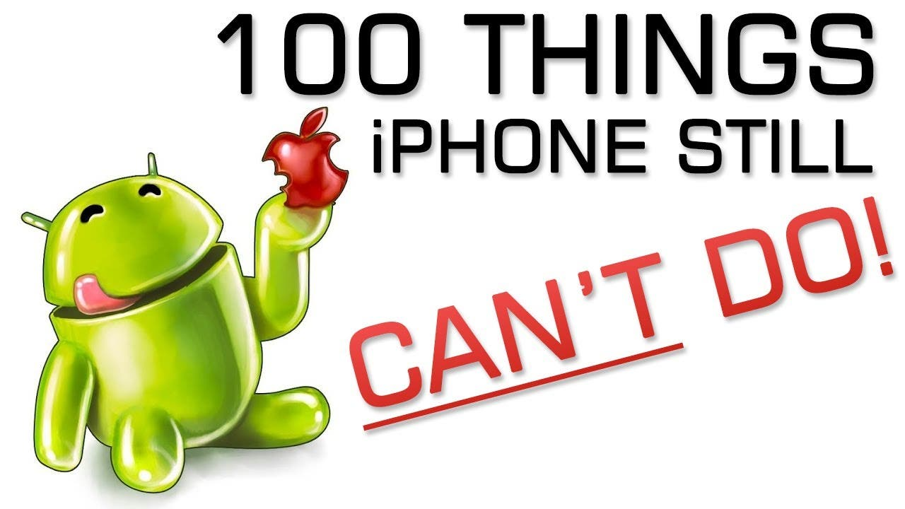 100 Dinge, die auch das iPhone 5S noch nicht kann (Android aber schon)