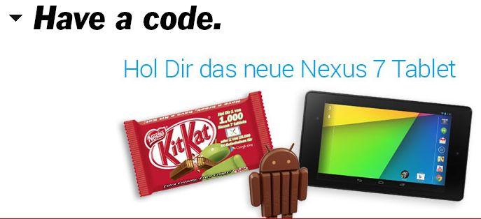 Kitkat Aktions-Seite