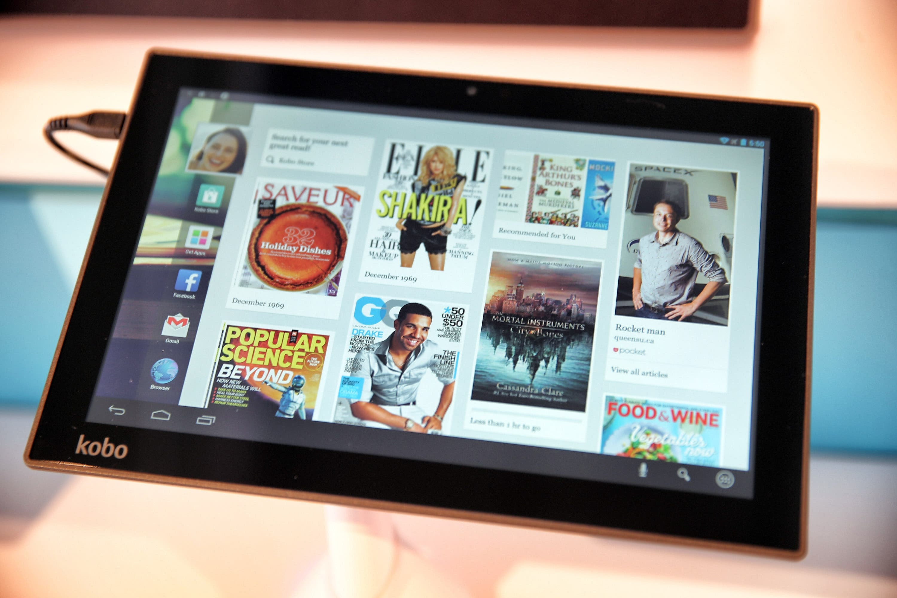 IFA 2013: Kobo Arc 10HD 10inch Tegra 4 Tablet mit 2560×1600 Pixel Display – Hands-on & Interface-Demo