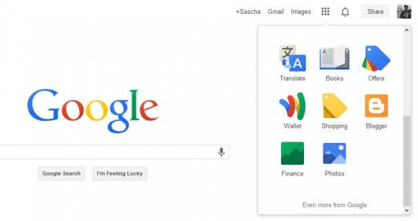 New Google Interface 1 605x320 Google Update: Neues Logo und Navigation ist da!