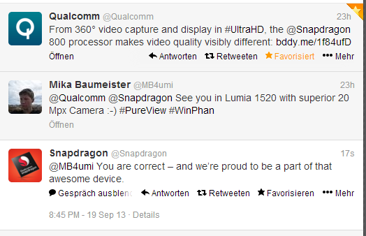 Qualcomm confirming Lumia1520 with Snapdragon800 Nokia Lumia 1520: Qualcomm bestätigt Snapdragon 800 offiziell