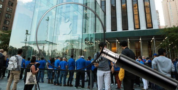"Samsung platziert ""Spione"" in der Apple iPhone 5S Launch-Schlange"