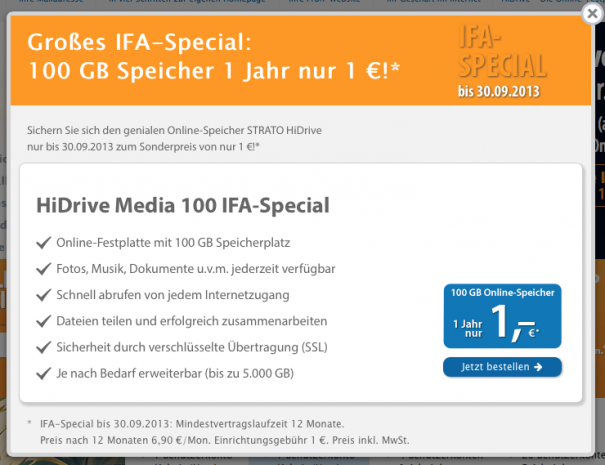 Strato HiDrive 605x465 News: Strato HiDrive Angebot, Microsoft/Nokia, Disa und Spotify Connect