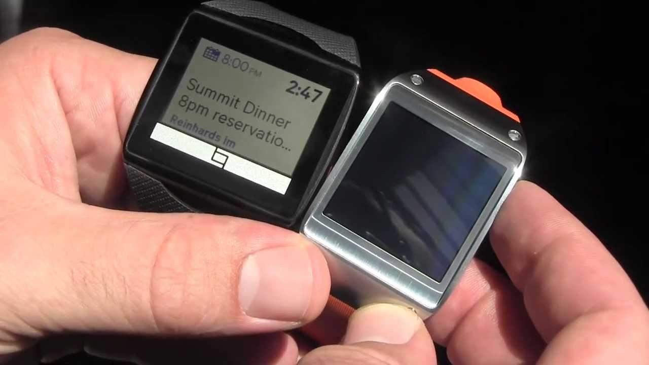 IFA: Qualcomm Toq Smartwatch und Samsung Galaxy Gear im direkten Vergleich [Video]