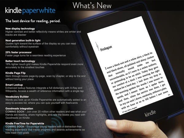 kindle paperwhite sequel post 1378218546 News: Amazons neuer Kindle Paperwhite, ASUS Fonepad 7, Amazon Kindle MatchBook