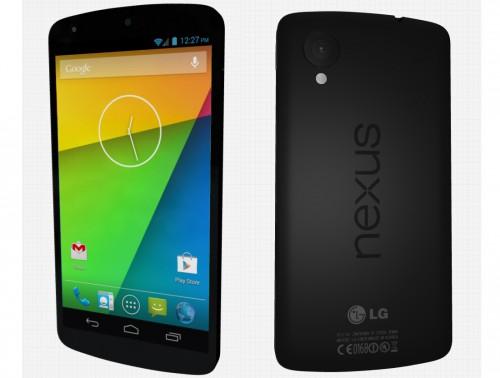 So sieht das Nexus 5 als 3D-Modell aus