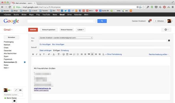 retro compose News: Chrome Erweiterung für alten Gmail Editor, BlackBerry taumelt weiter, Facebook Messenger für iOS