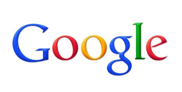 Das Google-Logo vor weissem Hintergrund