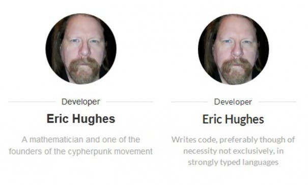 Eric Hughes - Vorher-Nachher-Vergleich seines Profils bei Adblock Plus