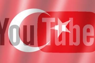 YouTube-Logo auf türkischer Flagge