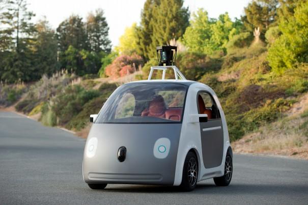 Google Car: Erster Prototyp des selbstfahrenden Autos sieht aus wie eine Gondel auf Raedern