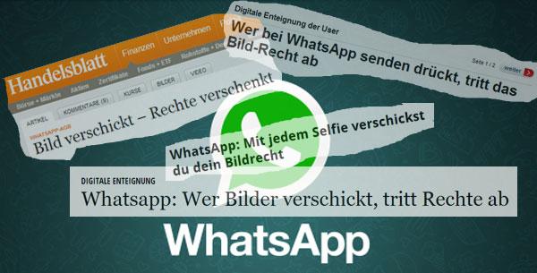 Whatsapp und die Bildrechte: Viel Lärm um fast gar nichts