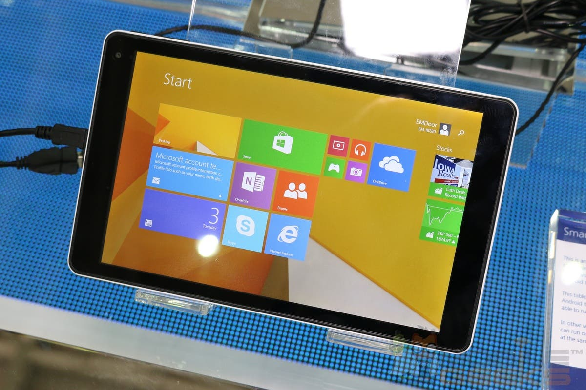 Computex 2014: Emdoor-I8080 100-Dollar-Tablet mit Windows 8.1 im Hands on-Video