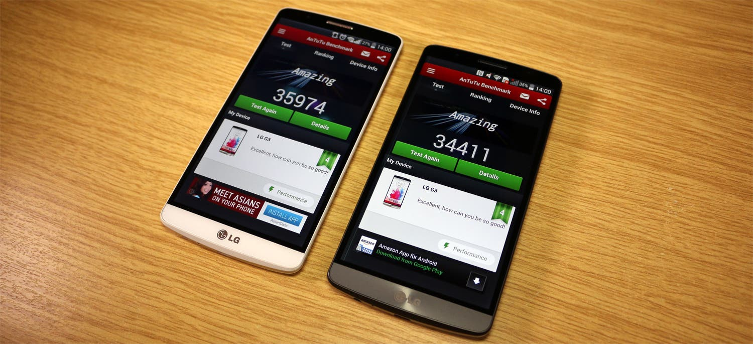 LG G3: 2 GB RAM-Version vs 3 GB RAM-Version im Benchmark-Test [Video]
