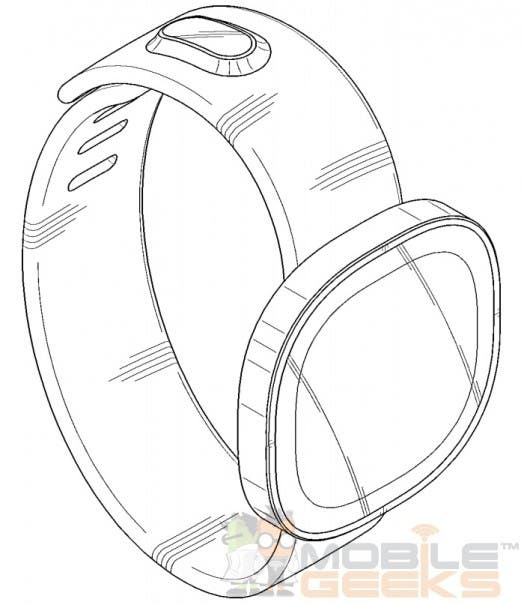 samsung smartwatch patent 0013 524x605 Samsung patentiert drei Designs für runde Smartwatches   mit Ladeanschluss im Armband