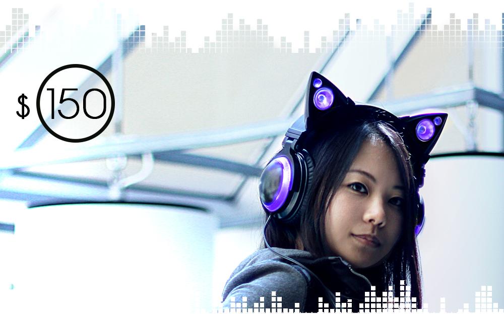 Purple Cat Ear Headphones
