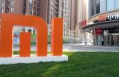 Xiaomi Logo vor dem Xiaomi Headquarter